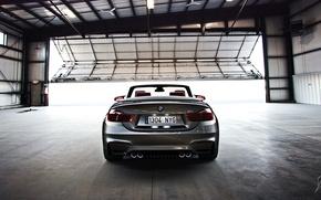 Картинка BMW, Car, Cabrio, Hangar, Rear, Culo