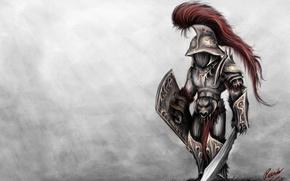 Картинка фон, воин, гладиатор, Мурмиллон