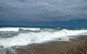 Картинка waves, summer, beach, sea, italy, abruzzi