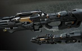 Картинка автоматическое оружие, войны будущего, Crysis оружие будущего