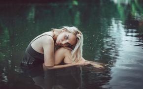 Картинка девушка, мурашки, в воде, холодно