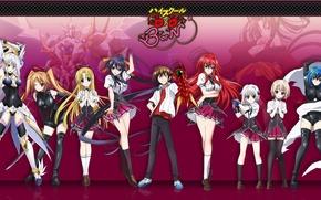 Картинка sword, game, devil, mecha, neko, anime, cat, cross, katana, chess, asian, ecchi, cute, suit, manga, …