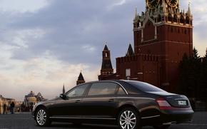 Обои Москва, кремль, Maybach 62