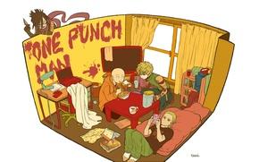 Картинка минимализм, Sonic, King, Saitama, OnePunch-Man, Genos
