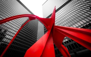 Картинка Chicago, United States, United States of America, Illinois, USA, The Red Flamingo, Kluczynski Federal Building, …