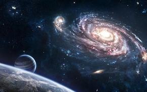 Обои космос, Вселенная, Земля