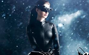 Обои The Dark Knight Rises, очки, Темный рыцарь: Возрождение легенды, Anne Hathaway, Женщина-Кошка, Catwoman, Selina Kyle, ...