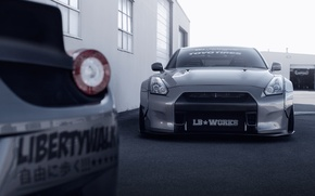 Картинка Nissan, GT-R, Front, Tuning, R35, Liberty Walk, Ligth