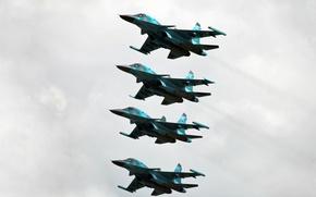 Картинка фронтовой бомбардировщик, ввс россии, СУХОЙ, FULLBACK, СУ-34