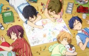 Картинка Nanase Haruka (Free!), Matsuoka Rin, Hazuki Nagisa, Ryugazaki Rei, Tachibana Makoto, Kyoto Animation, Free!