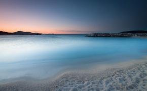 Картинка пляж, пейзаж, океан, рассвет