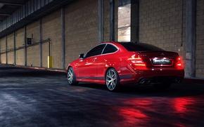 Картинка Mercedes, red, мерседес, C63, 507 Edition