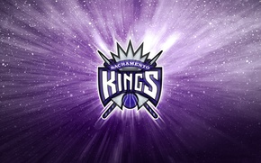Обои NBA, Фон, Логотип, Сакраменто, Sacramento Kings, Короли, Баскетбол, Фиолетовый
