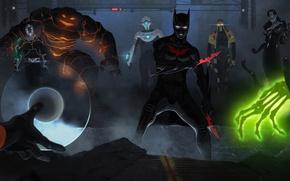Картинка Batman Beyond, Terry McGinnis, Magma, Shriek, Blight, Inque