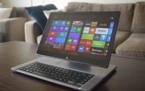 Картинка компьютер, интерьер, клавиатура, планшет, windows 8, Acer, Aspire R7
