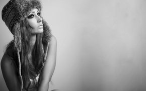 Картинка sexy, woman, fur hat