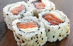 Картинка рыба, sushi, суши, кунжут, fish, sesame, японская кухня, Japanese cuisine