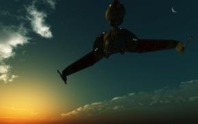 Картинка sky, spaceship, planet, клингоны