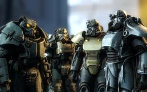 Картинка рендеринг, fallout, wasteland, братство стали, enclave, brotherhood of steel, power armor