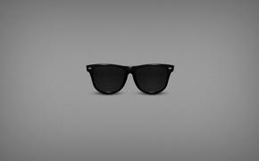 Картинка минимализм, очки, рейбены, Ray Ban