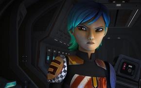 Картинка animated series, Звездные войны: Повстанцы, Star Wars: Rebels, Sabine Wren, Сабина Врен из клана Висла
