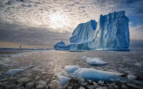 Картинка море, природа, айсберг, Greenland, Ostgronland, Scoresby Sound