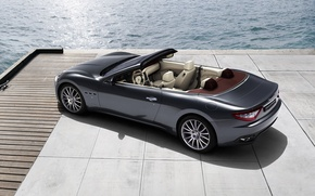 Картинка море, Maserati, Италия, кабриолет, top, back, main, Мазера́ти