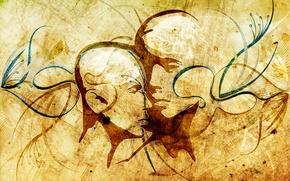 Картинка линии, креатив, контур, лица, art, vhm-alex