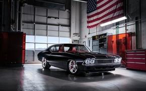 Обои Черный, Автомобиль, Concept, Chevrolet, Chevelle Slammer, 1969, Ретро