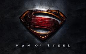 Обои Man of Steel, Постер, Логотип, Superman, Человек из стали