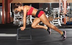 Картинка pose, female, workout, fitness, gym, training
