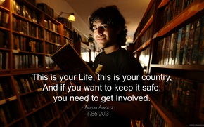 Картинка USA, Hacker, anonymous, Geek, who, Aaron Swartz, By PCbots, expect us
