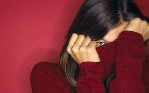 Картинка девушка, обои, свитер