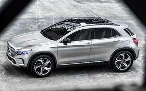 Картинка Mercedes-Benz, Concept, мерседес, GLA, автомобиль, серебристый