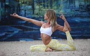 Картинка woman, pose, yoga, stretching, technique