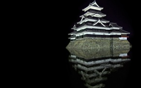 Обои Отражение, Замок, Матсумото