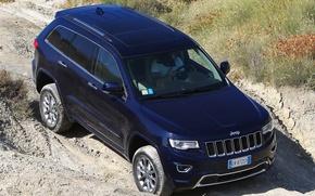Картинка синий, джип, внедорожник, suv, Jeep, Grand Cherokee, Overland