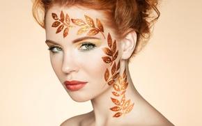 Картинка портрет, elegant, hairstyle, Autumn woman