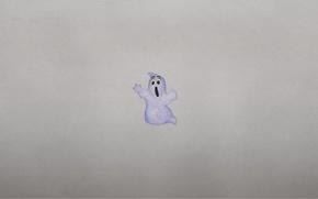 Картинка минимализм, призрак, ghost, привидение