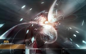 Обои запутанная фигня, частицы, дизайн