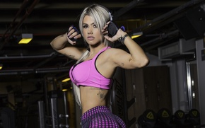 Обои sportswear, model, pose, fitness, sexy, ass, janaina santucci, workout, butt