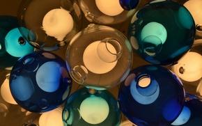 Картинка стекло, свет, шары, цвет, светильник
