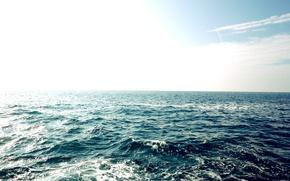 Картинка море, солнечные блики, безкрайность