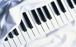 Картинка Музыка, Белый, Фон, Пианино