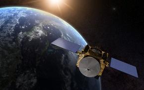 Обои поверхность, земля, OSIRIS-REx, посадочный аппарат, планета, звезды