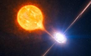 Картинка event horizon, black hole, giant star