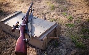 Картинка трава, ящик, винтовка, снайперская, Мосина, M91/30