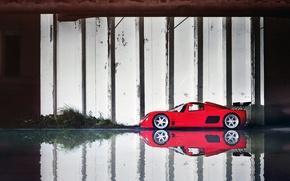 Картинка вода, отражение, суперкар, supercar, gtr, ultima, reflection, ультима