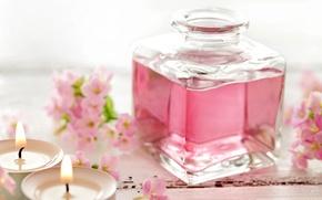 Картинка свечи, pink, flowers, спа, candles, perfume, парфюм, spa, oil, zen