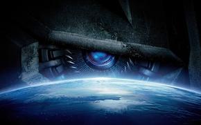 Обои постер, Transformers, Трансформеры, фантастика, планета, космос